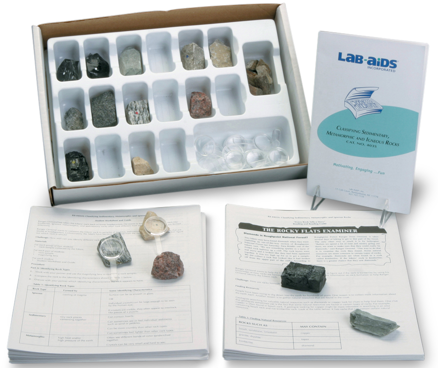 Classifying Sedimentary, Igneous, and Metamorphic Rocks (Developed by SEPUP)