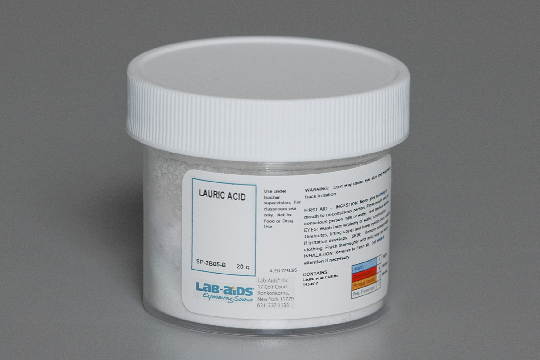 lauric acid Lauric acid information based on scientific evidence includes description, drug interactions, safety concerns, and effectiveness.