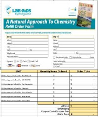 NEW! A Natural Approach to Chemistry Refill Form